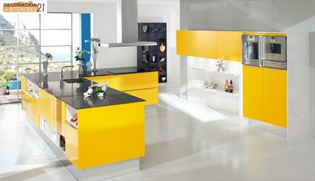 Decoración energética con color amarillo