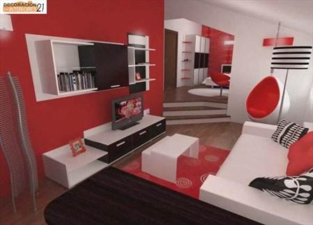 Decoración energética con color rojo