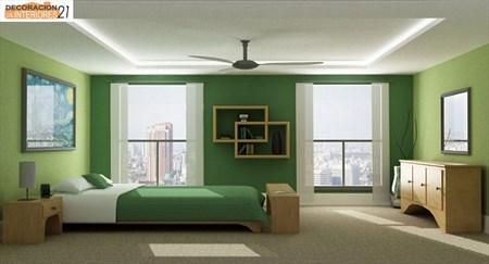Decoración energética con color verde