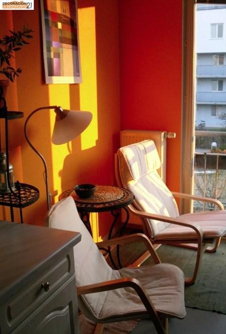 Decoracion energética con color naranja