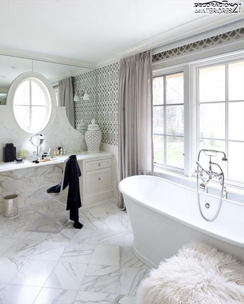 Decora tu baño con estas 28 ideas de decoración de baños al estilo moderno (1)