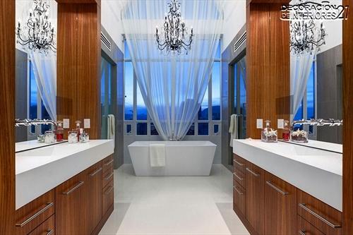 Decora tu baño con estas 28 ideas de decoración de baños al estilo moderno (27)