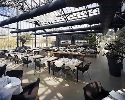 Ideas de decoración -  Invernadero convertido en fresco restaurante (1)