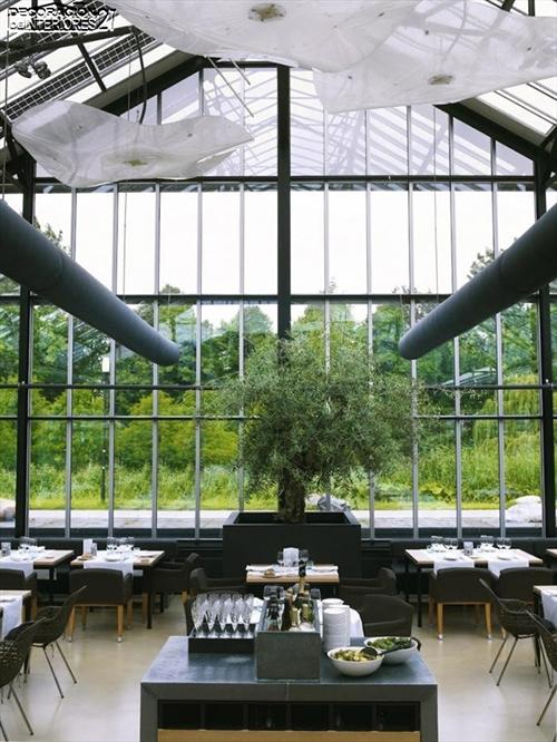 Ideas de decoración -  Invernadero convertido en fresco restaurante (3)