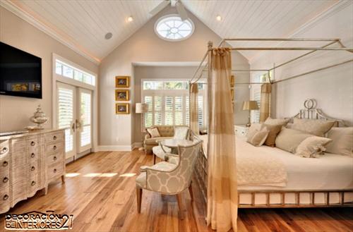 Cuarenta fabulosos modelos de dormitorios con camas que utilizan dosel (42)