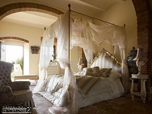 Cuarenta fabulosos modelos de dormitorios con camas que utilizan dosel (47)