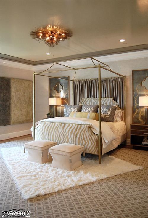 Cuarenta fabulosos modelos de dormitorios con camas que utilizan dosel (48)