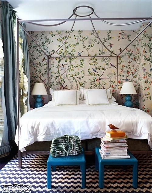 Cuarenta fabulosos modelos de dormitorios con camas que utilizan dosel (50)