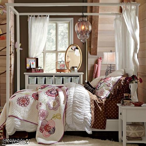 Cuarenta fabulosos modelos de dormitorios con camas que utilizan dosel (59)