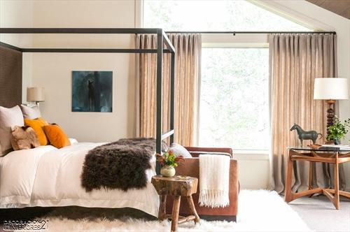Cuarenta fabulosos modelos de dormitorios con camas que utilizan dosel (63)