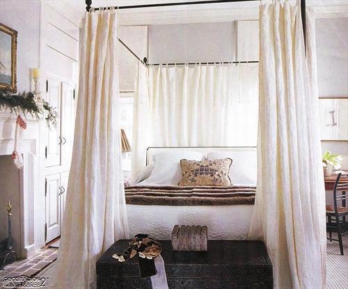 Cuarenta fabulosos modelos de dormitorios con camas que utilizan dosel (65)
