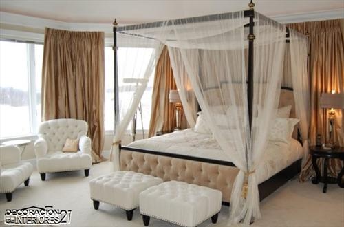 Cuarenta fabulosos modelos de dormitorios con camas que utilizan dosel (67)