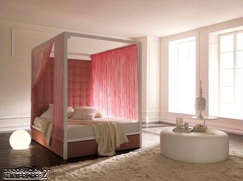 Cuarenta fabulosos modelos de dormitorios con camas que utilizan dosel (69)