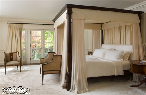 Cuarenta fabulosos modelos de dormitorios con camas que utilizan dosel (70)