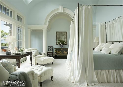 Cuarenta fabulosos modelos de dormitorios con camas que utilizan dosel (71)