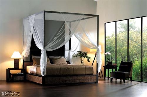 Cuarenta fabulosos modelos de dormitorios con camas que utilizan dosel (72)