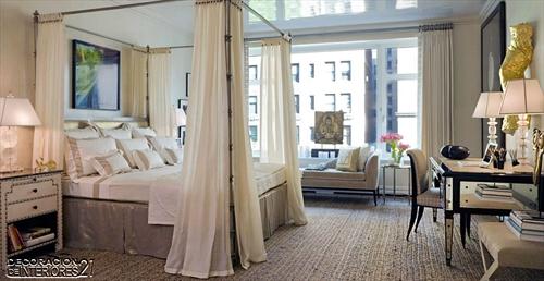 Cuarenta fabulosos modelos de dormitorios con camas que utilizan dosel (75)