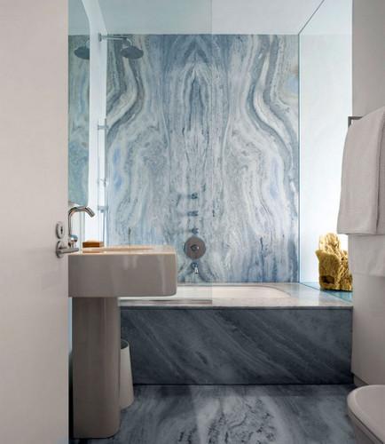 Decoración de baños hechos con marmol