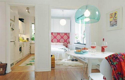 Apartamento ultrachic color blanco tonos citricos