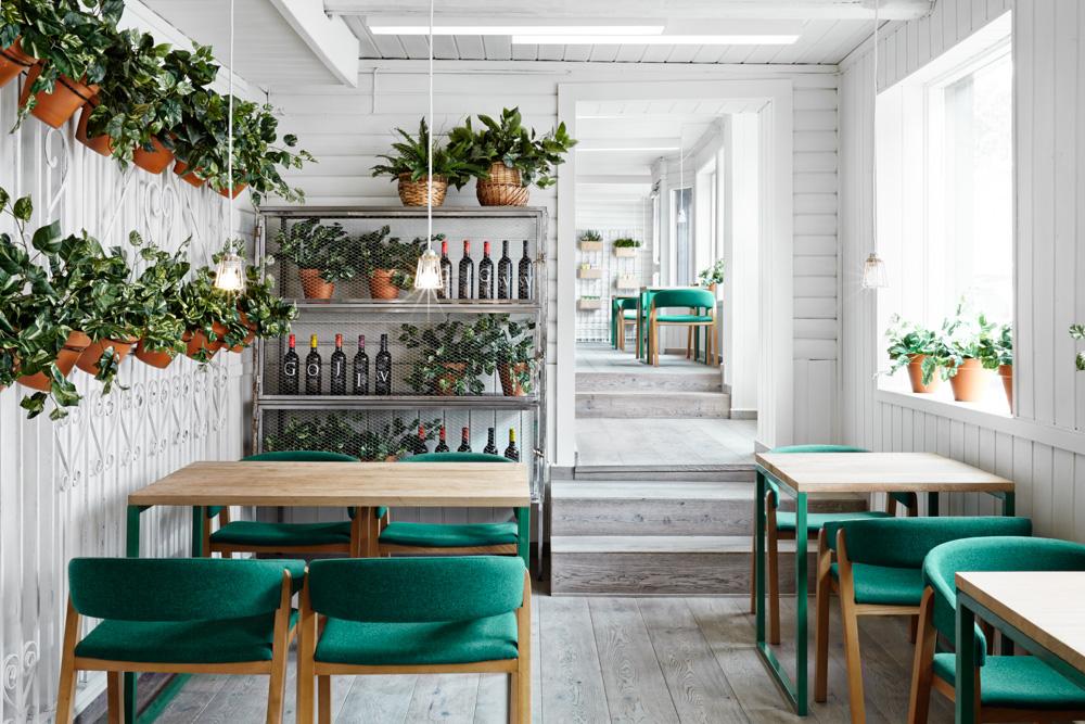 Otro lugar más para charlar con vegetación