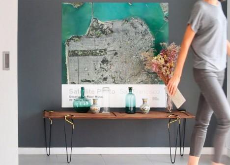 Hermosa mesa como decoración para el hogar