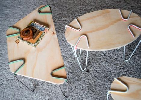 Ejemplo de diferentes mesas de formas y tamaños diferentes