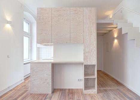 Un excelente mueble bien acomodado para ocupar el espacio libre