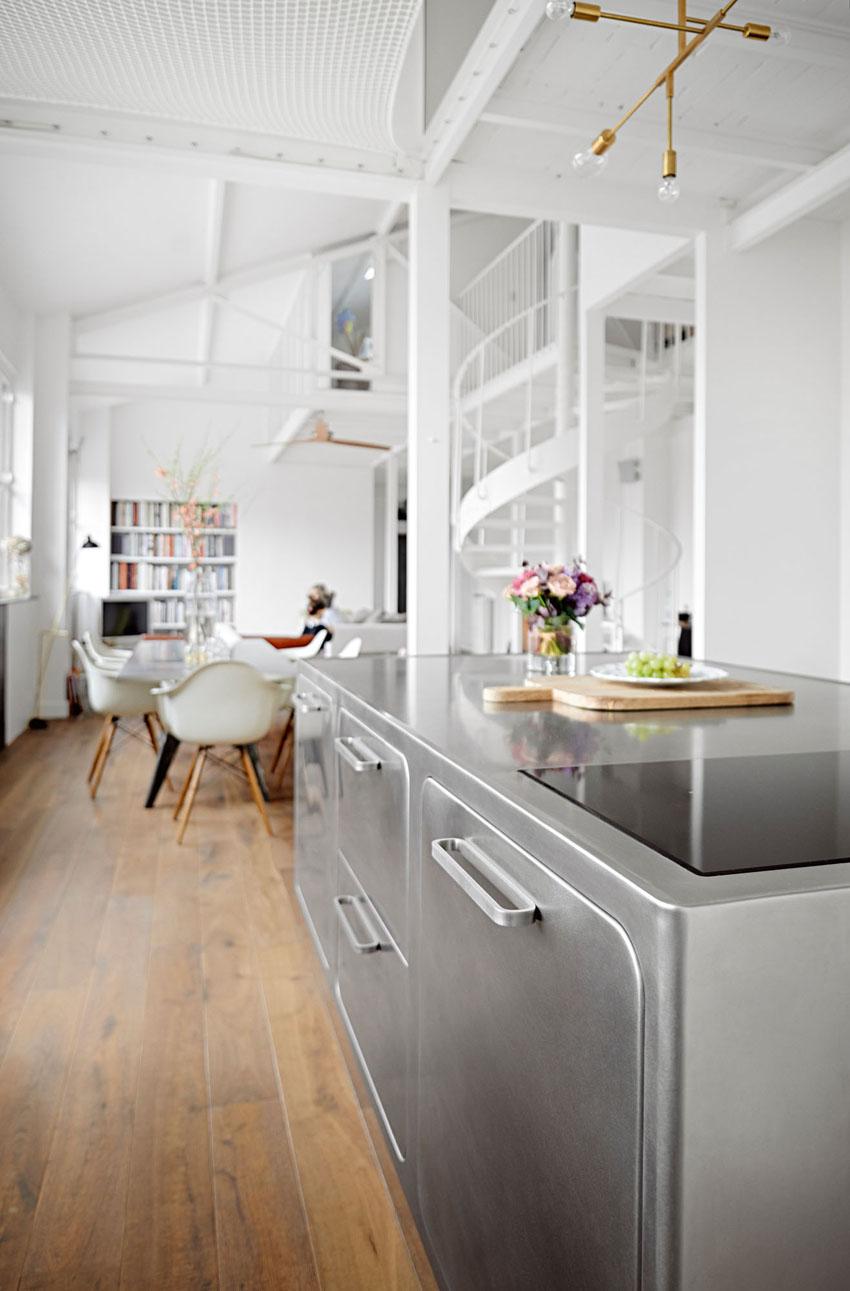 Una vista de la cocina
