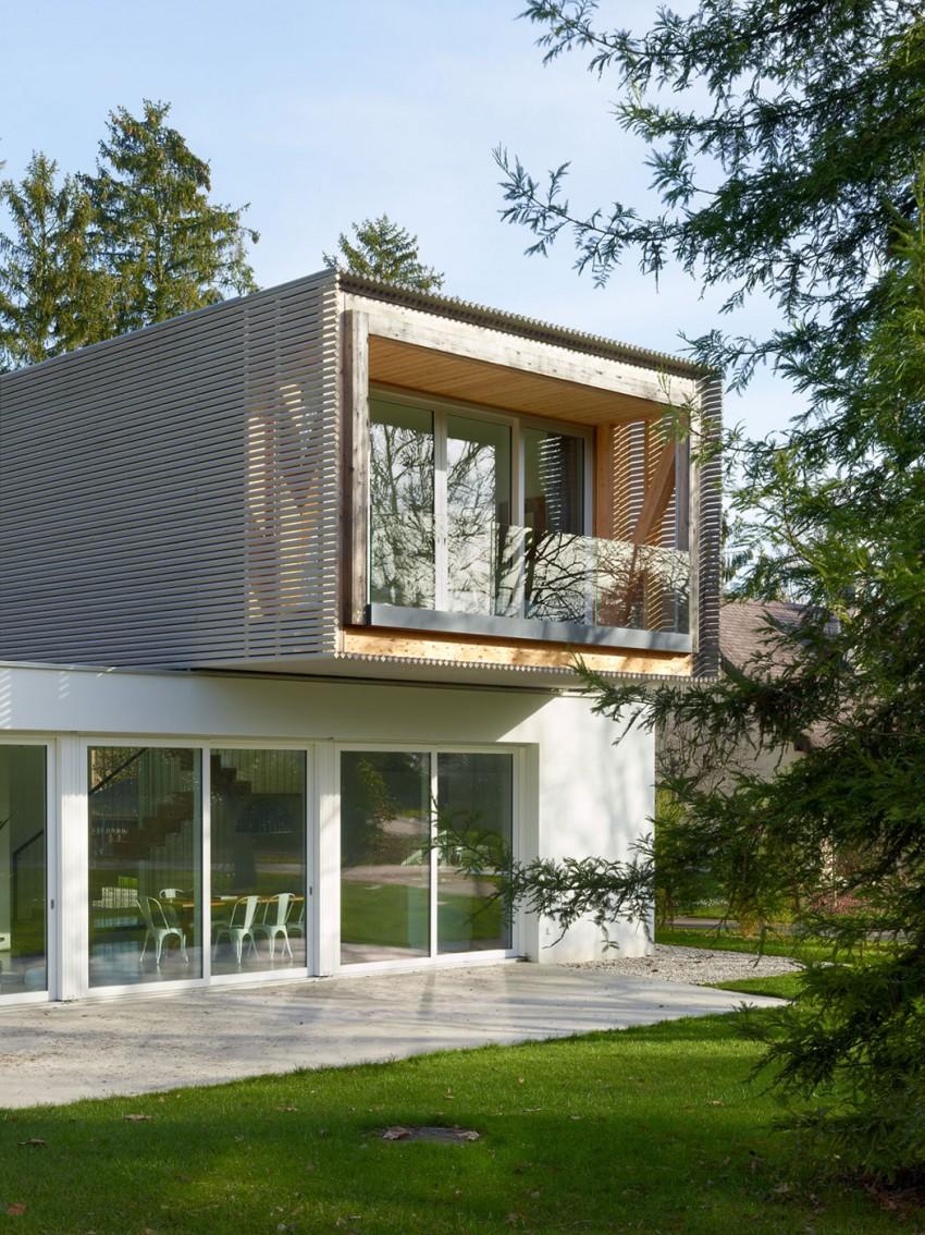 Una vista del exterior de la casa