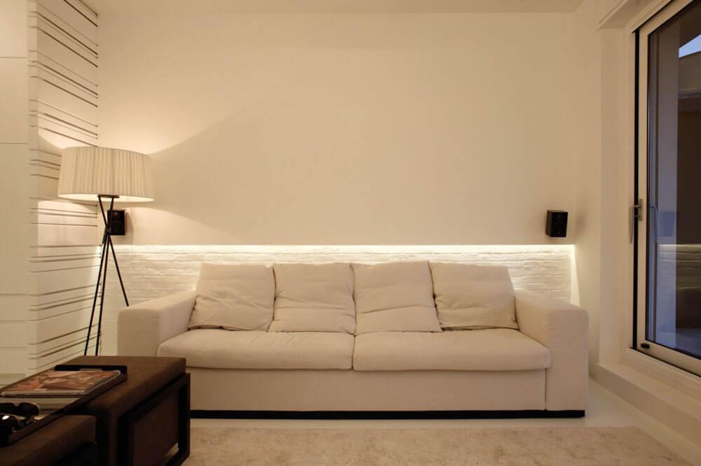 La sala es minimalista