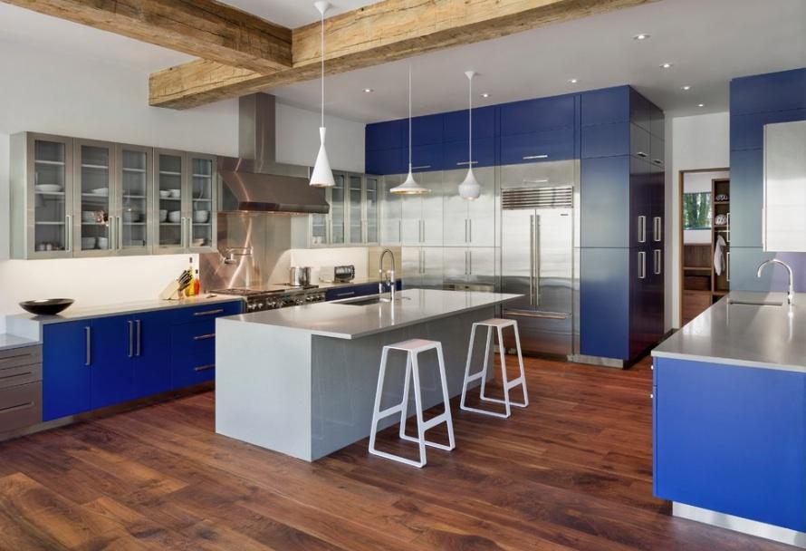 un diseño colorido y perfecto en los gabinetes de cocina