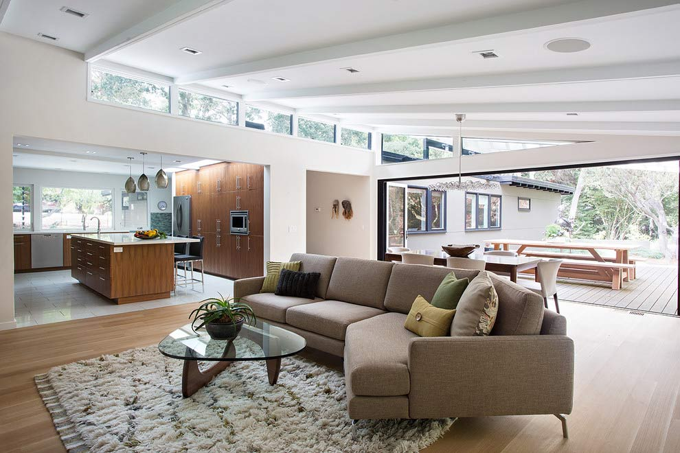 Una sala muy moderna