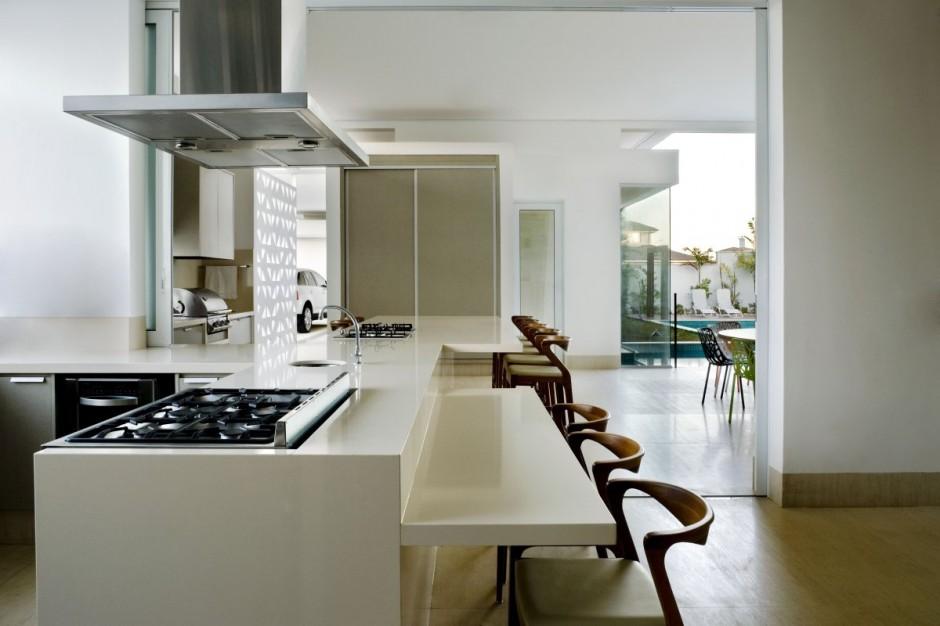 moderna cocina lujosa