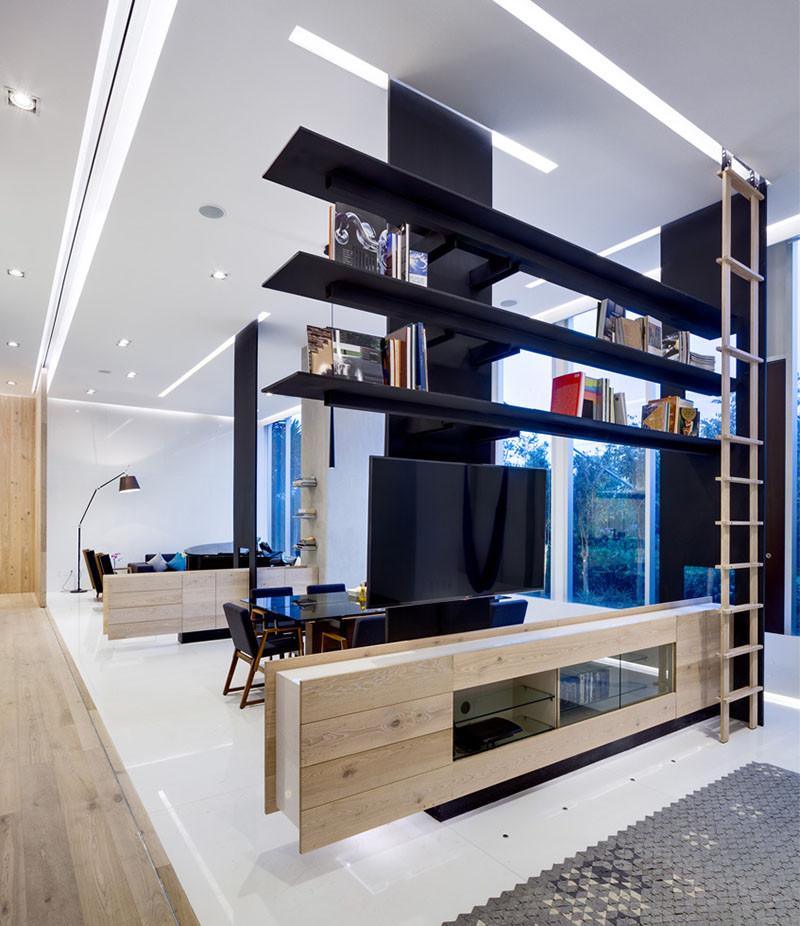 modernas estanterías