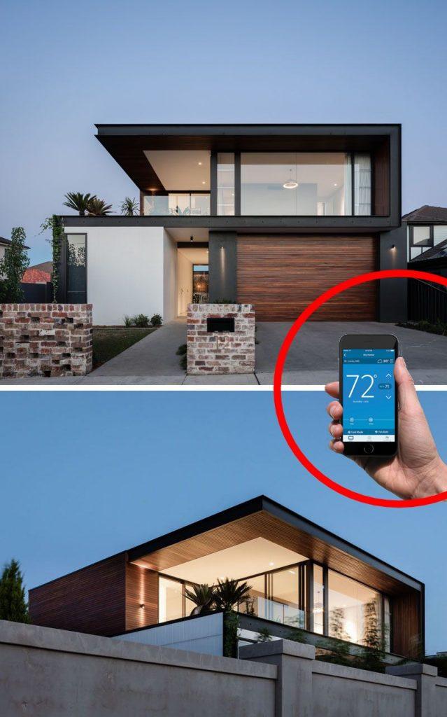 casa inteligente moderna con domotica